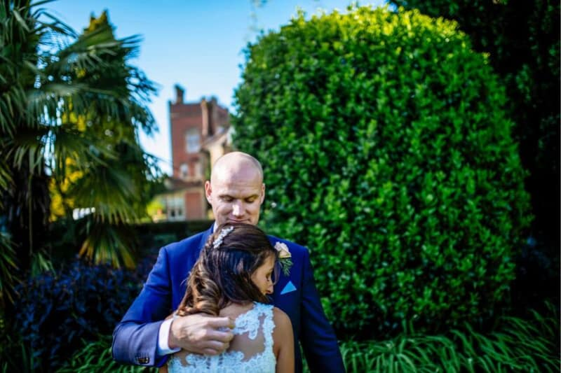South East | Sussex | Crawley | Summer | Outdoor | Garden | Blue | Orange | Manor House | Real Wedding | Hajley Photography #Bridebook #RealWedding #WeddingIdeas Bridebook.co.uk