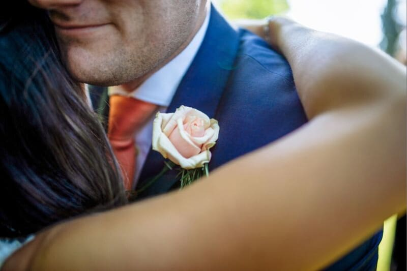 South East | Sussex | Crawley | Summer | Outdoor | Garden | Blue | Orange | Manor House | Real Wedding | Hajley Photography #Bridebook #RealWedding #WeddingIdeas Bridebook.co.uk