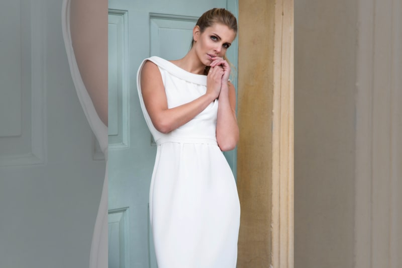 bridebook.co.uk Louise Selby's Delphinium Dress