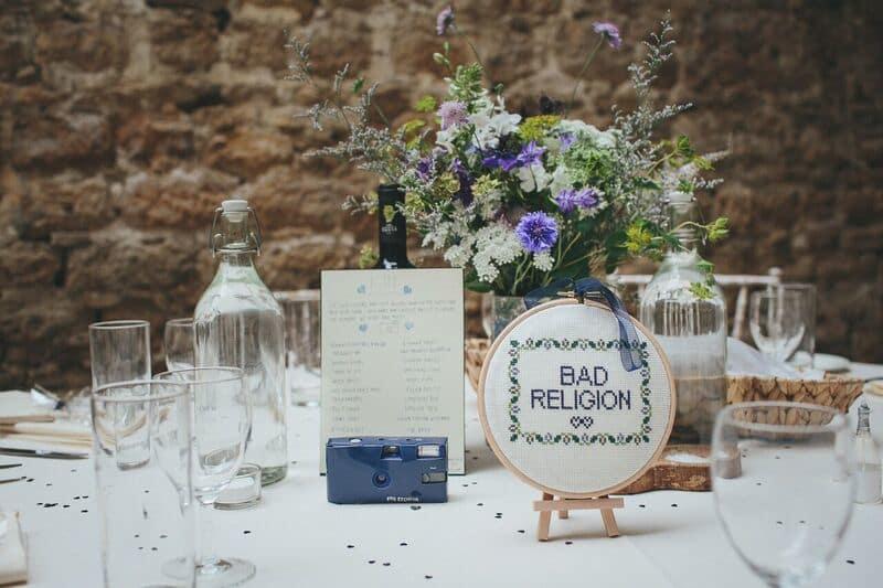 South West | Dorset | Bridport | Summer | DIY | Rustic | Blue | White | Barn | Real Wedding | Helen Lisk Photography #Bridebook #RealWedding #WeddingIdeas Bridebook.co.uk