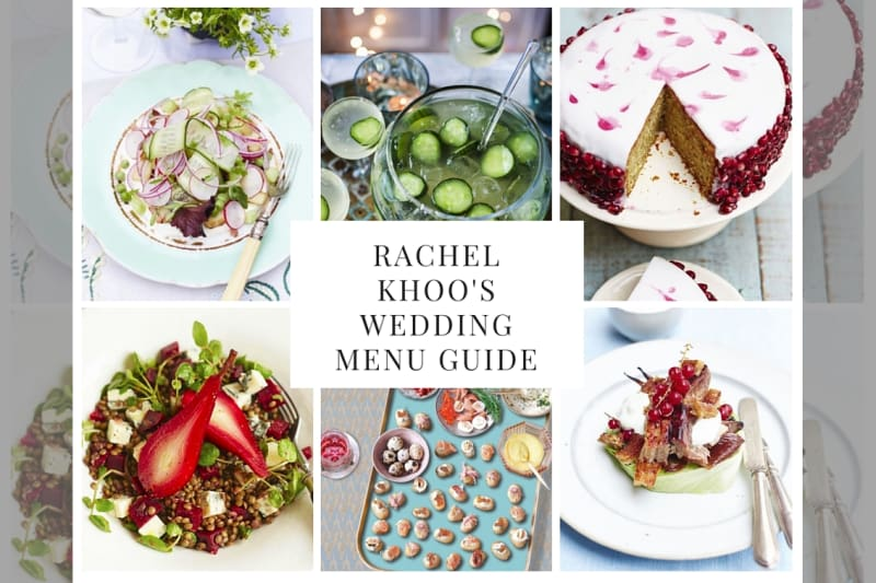 bridebook.co.uk rachel khoo wedding menu tips collage