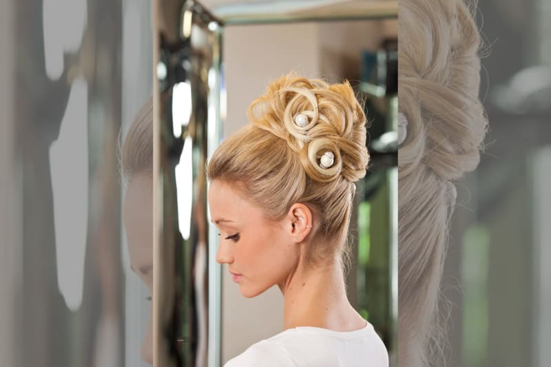 bridebook.co.uk Richard Ward blonde hairstyling