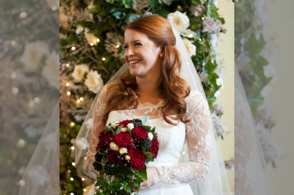 bridebook.co.uk- bride with hair half up and half down done by Rose Magnall