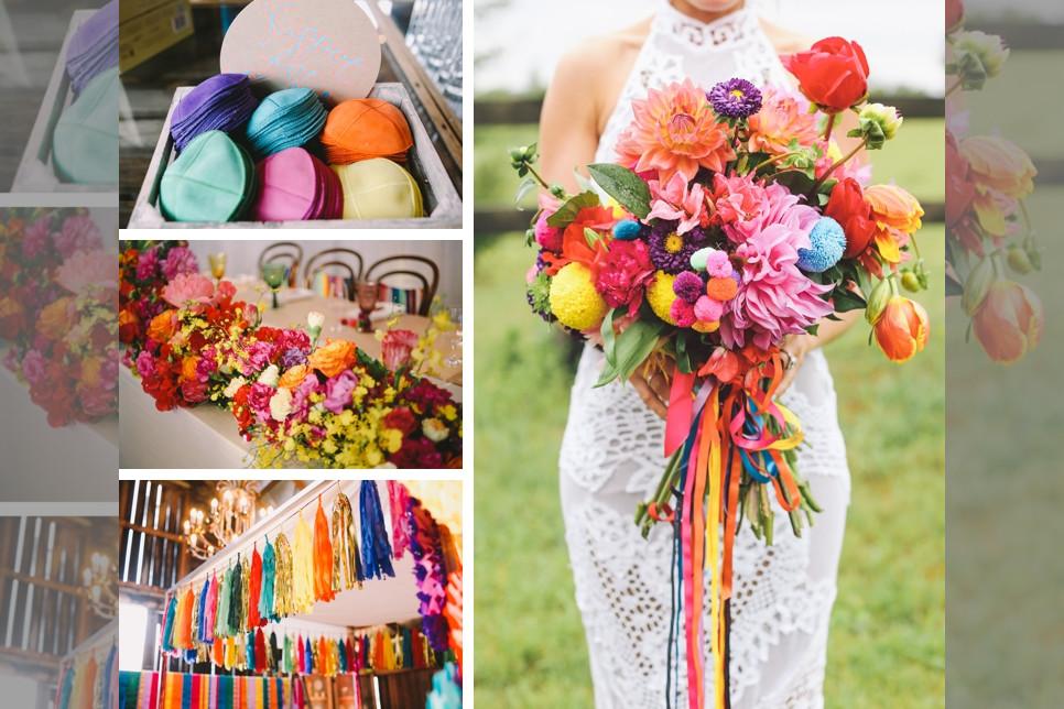 Bridebook.co.uk colourful wedding details