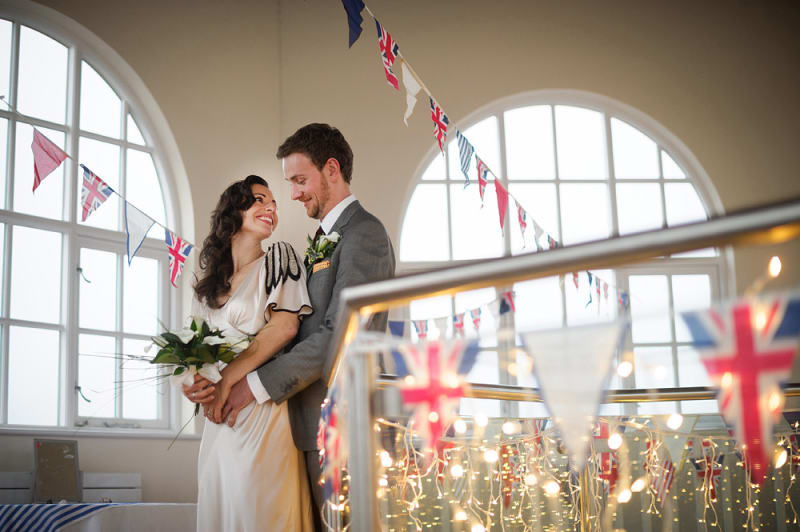Bridebook.co.uk jewish couple at their wedding