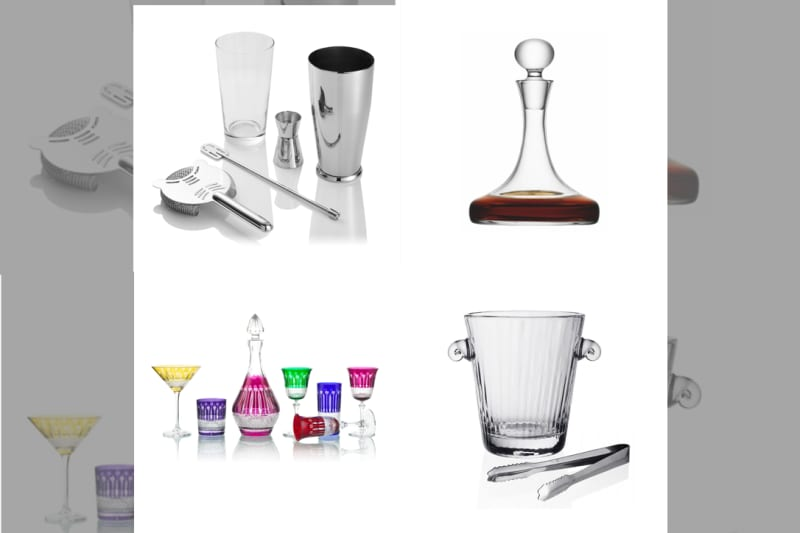 Bridebook.co.uk selection of cocktail wedding gifts