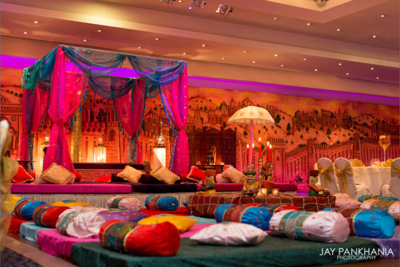 London s 26 best venues for asian weddings wedding for Asian wedding room decoration