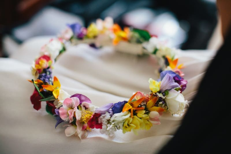 Bridebook.co.uk- flower crown wedding accessory
