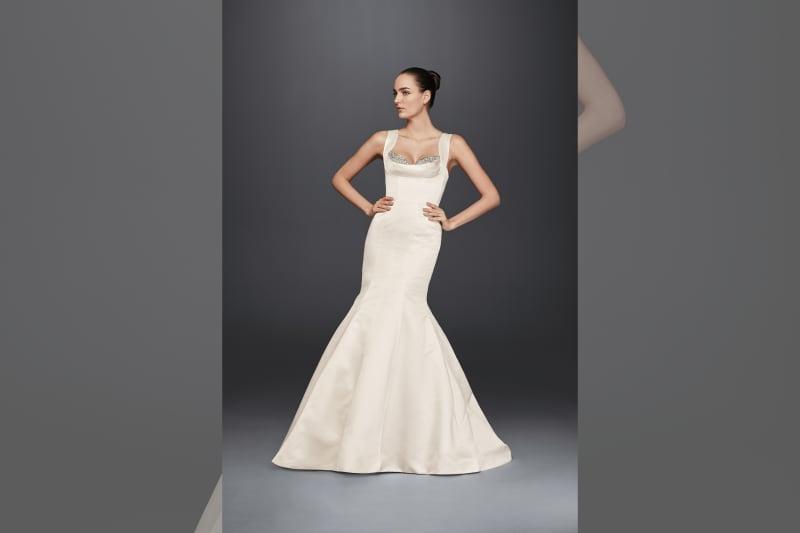 Bridebook.co.uk David's Bridal dress on model