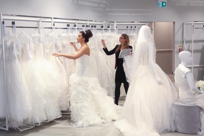 Bridebook.co.uk bride shopping for wedding dresses