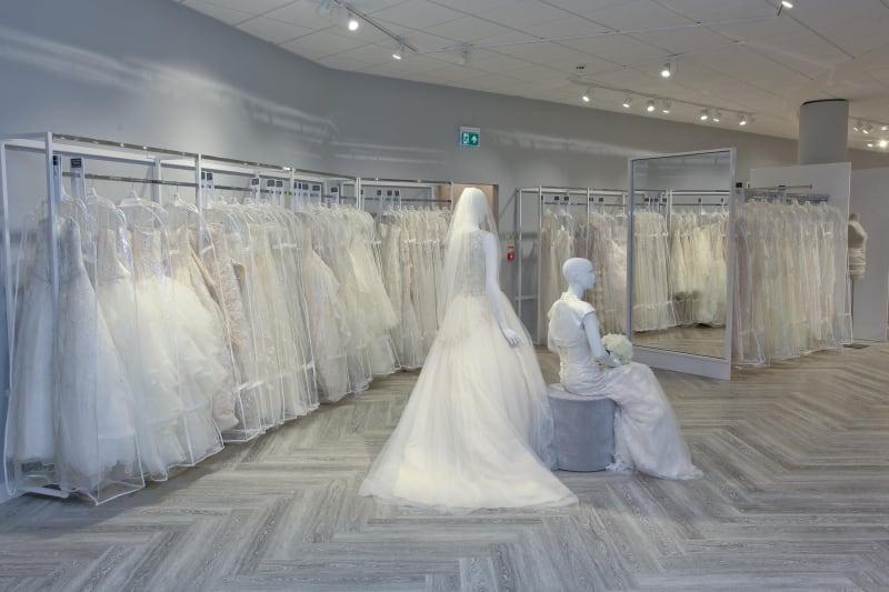 Bridebook.co.uk shot of the birmingham davids bridal store