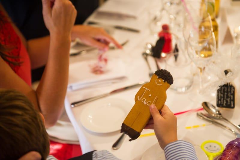 Bridebook.co.uk Kids wedding favour Personalised gingerbread man