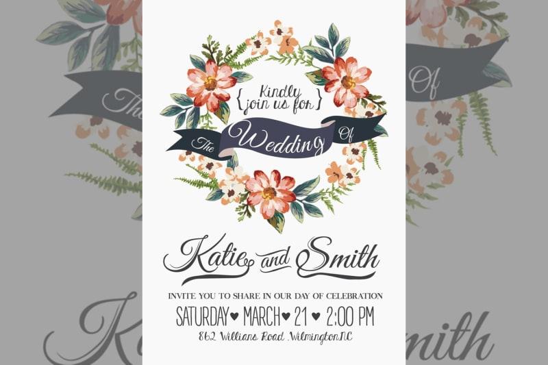 Bridebook.co.uk wedding invitation