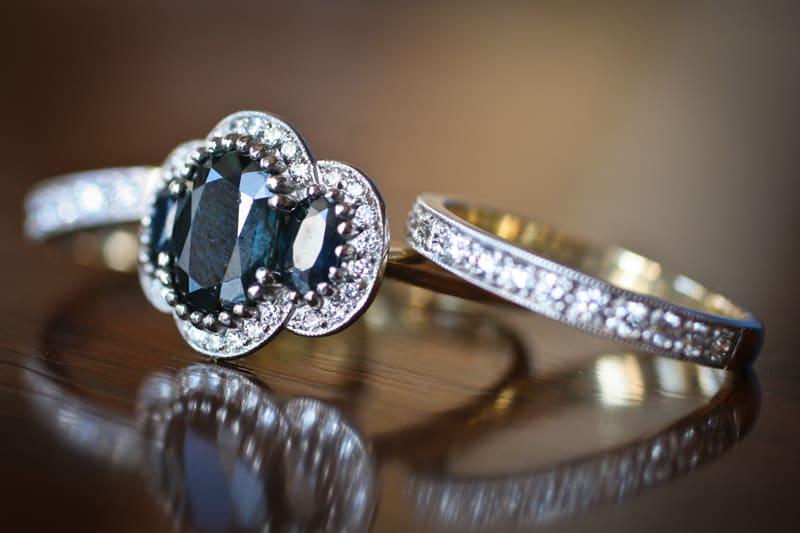 Bridebook.co.uk- vintage engagement ring and diamond wedding ring