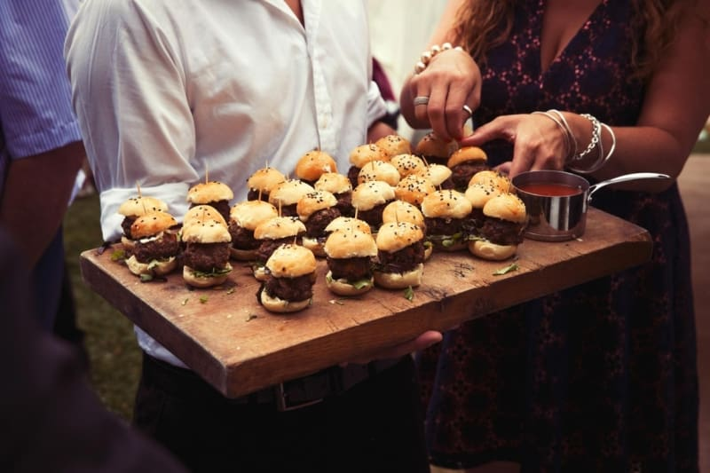Bridebook.co.uk- mini burger canapes