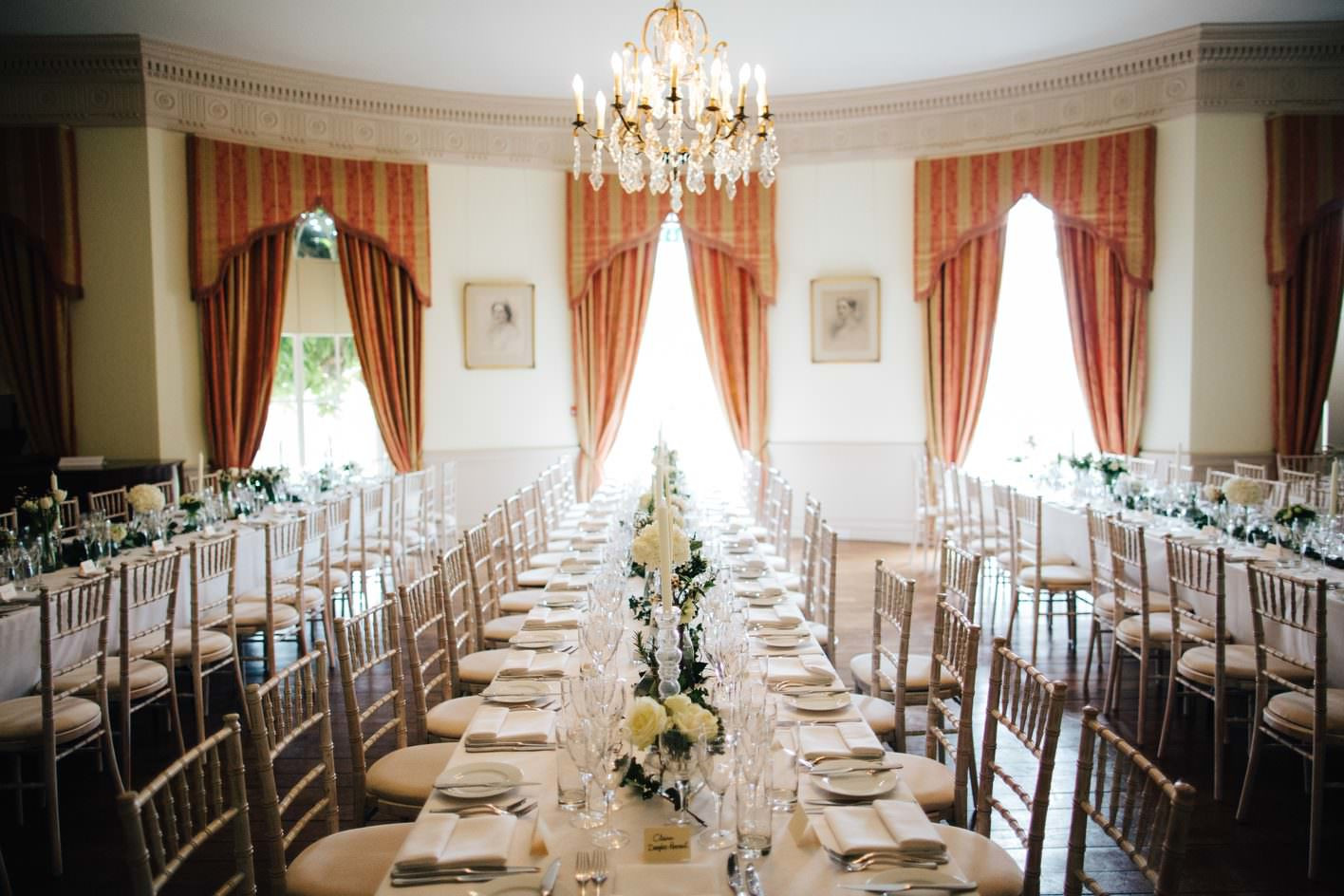 Bridebook.co.uk- wedding venue set up for reception