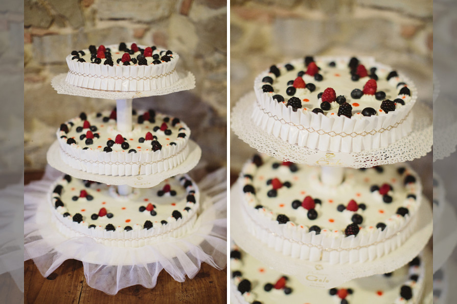 Bridebook.co.uk- white tiered wedding cake decorated with fresh berries