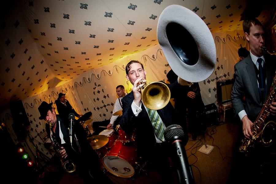 Bridebook.co.uk- wedding band performing during reception