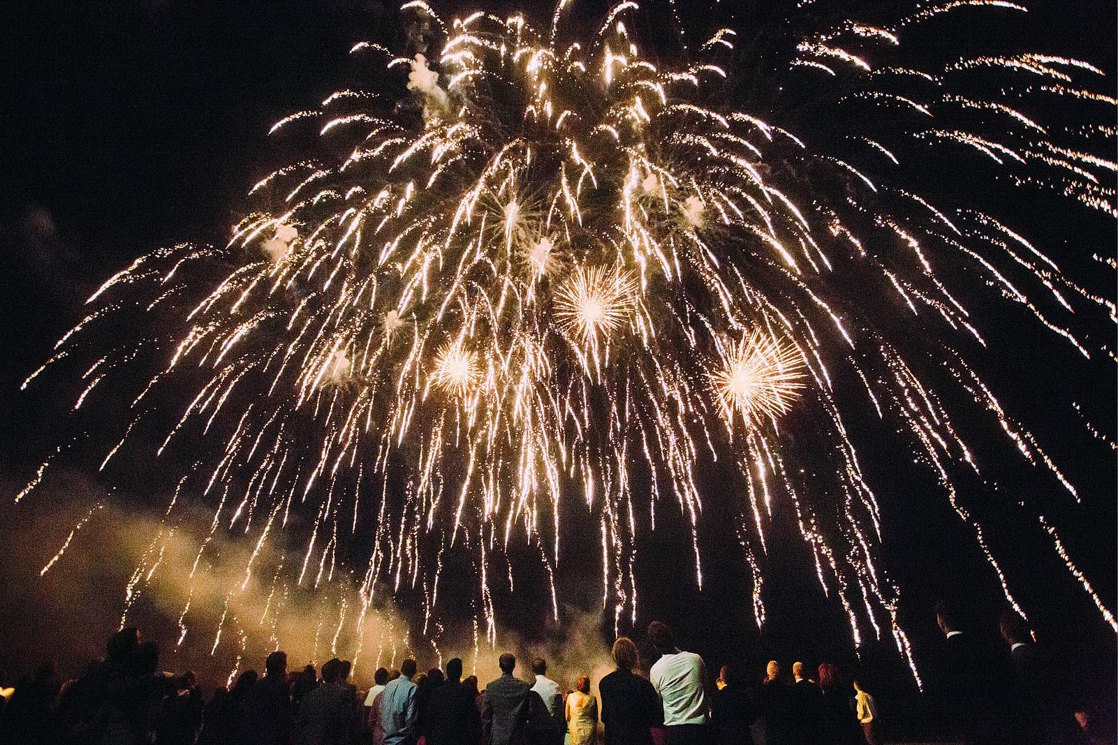 Bridebook.co.uk- guests enjoying fireworks display