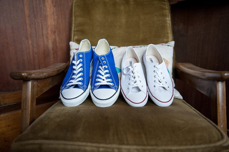Bridebook.co.uk- his and hers converse shoes