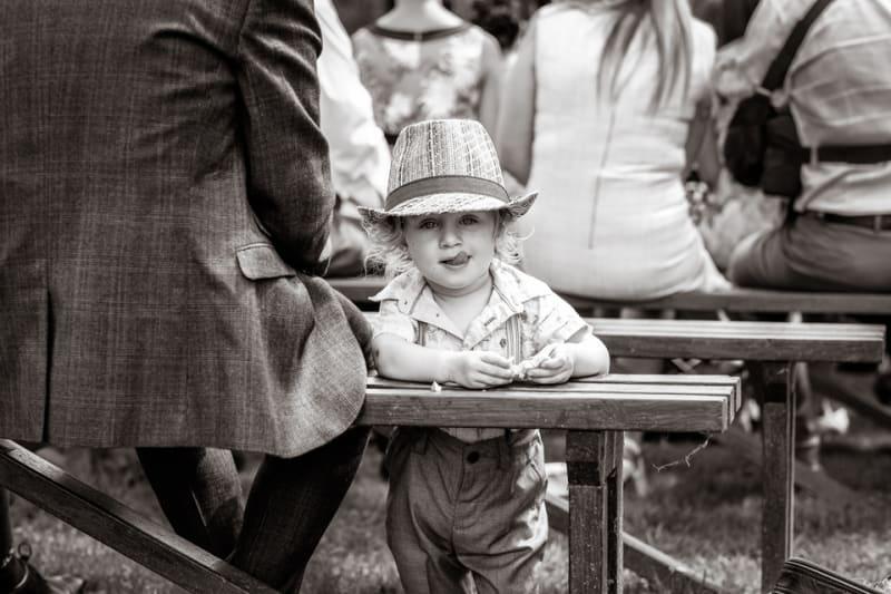 Bridebook.co.uk- little boy guest in a hat