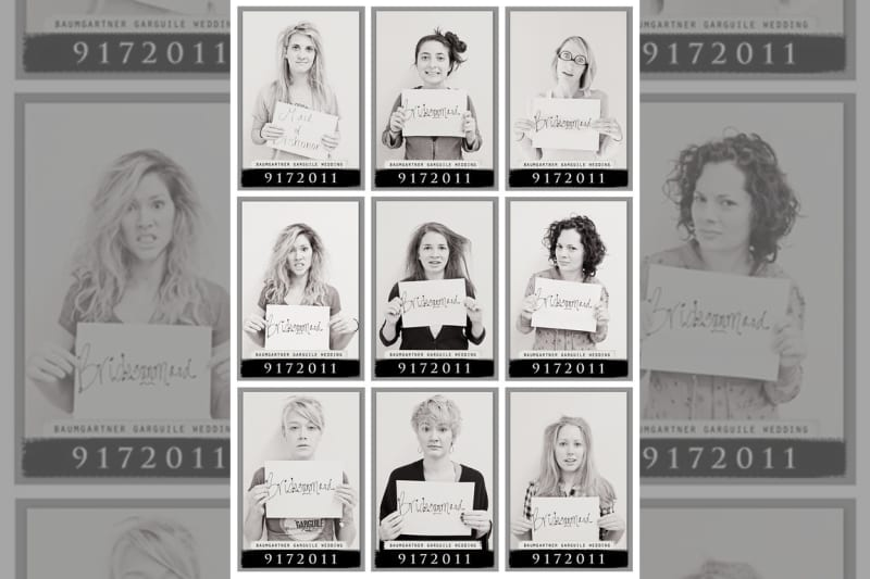 Bridebook.co.uk- bridesmaids after hen do mug shots