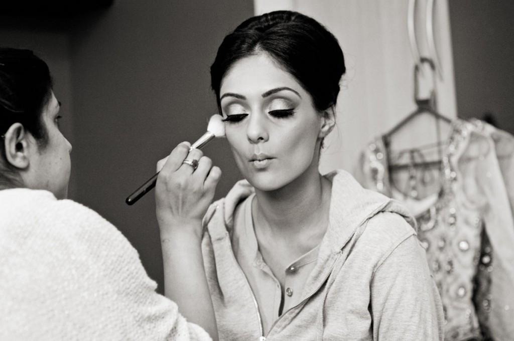 www.bridebook.co.uk bride having her make up done by artist