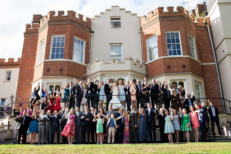 Bridebook.co.uk- entire wedding in front of venue