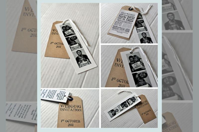 Bridebook.co.uk- photobooth photos save the date