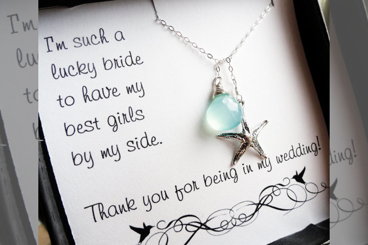 Bridebook.co.uk- bridesmaids thank you note and gift