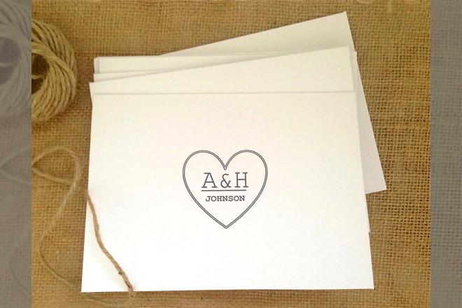Bridebook.co.uk- monogrammed thank you notes
