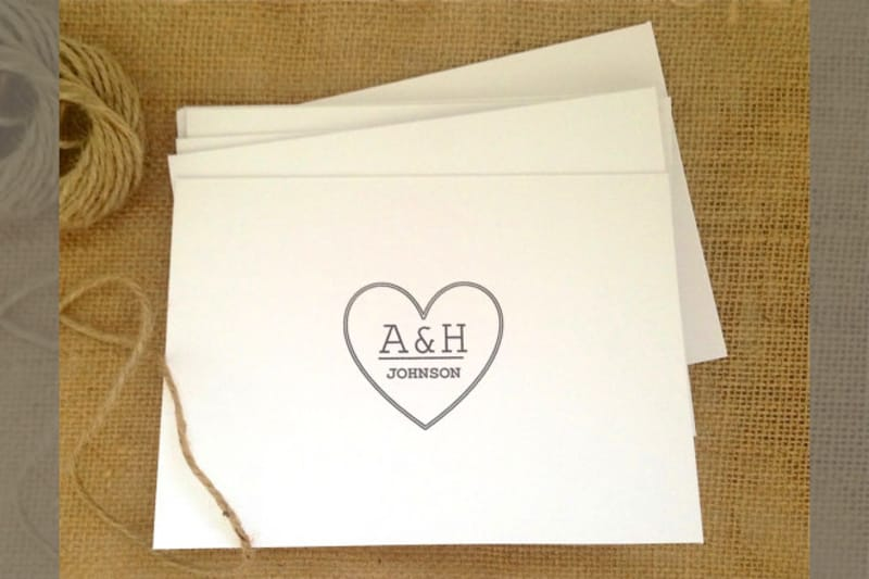 Bridebook.co.uk- monogrammed thank you notes