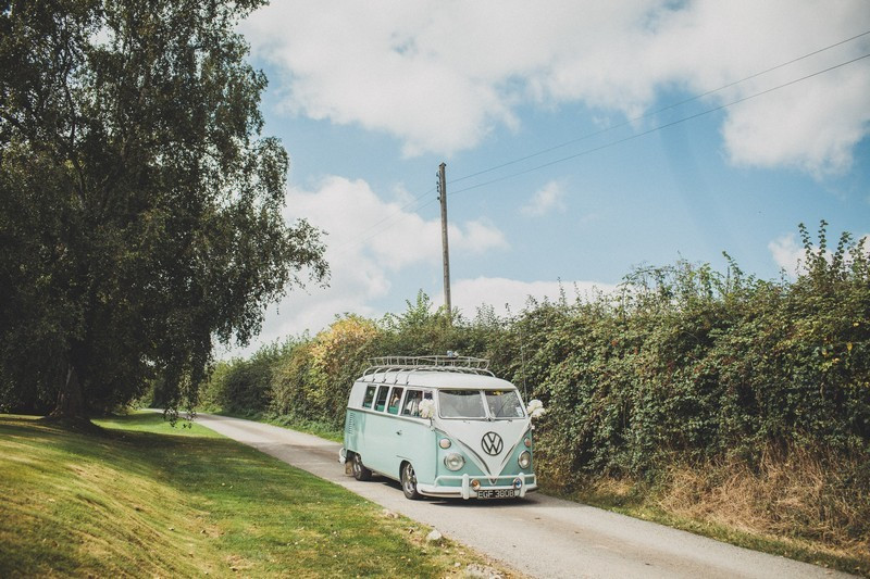 Bridebook.co.uk- mint colour vintage vw van