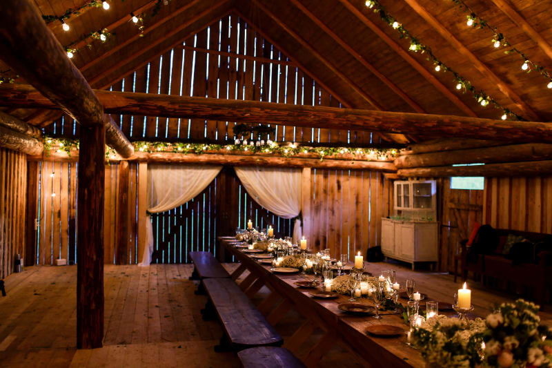 Bridebook.co.uk Rustic candlelit barn wedding venue