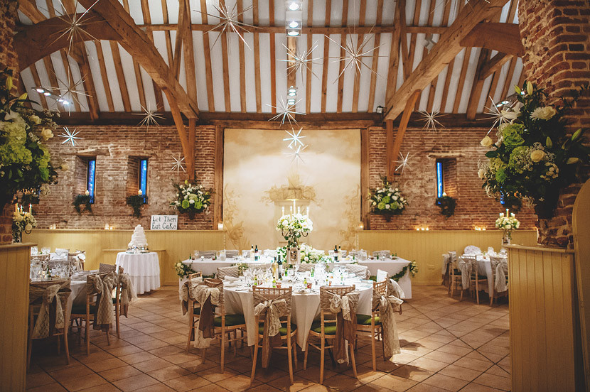 Bridebook.co.uk- wedding barn venue decorated for wedding breakfast