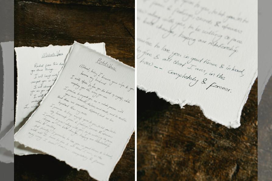 Bridebook.co.uk- wedding vows on a piece of paper