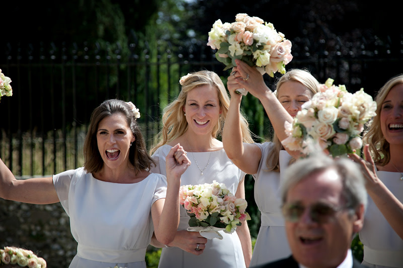 Bridebook.co.uk- bridesmaids cheering