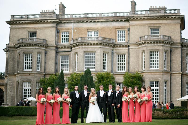 Bridebook.co.uk- bridal party outside wedding venue