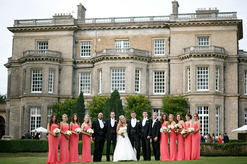 Bridebook.co.uk- bridal party outside wedding venue
