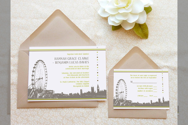 Bridebook.co.uk- wedding invitations with the london eye