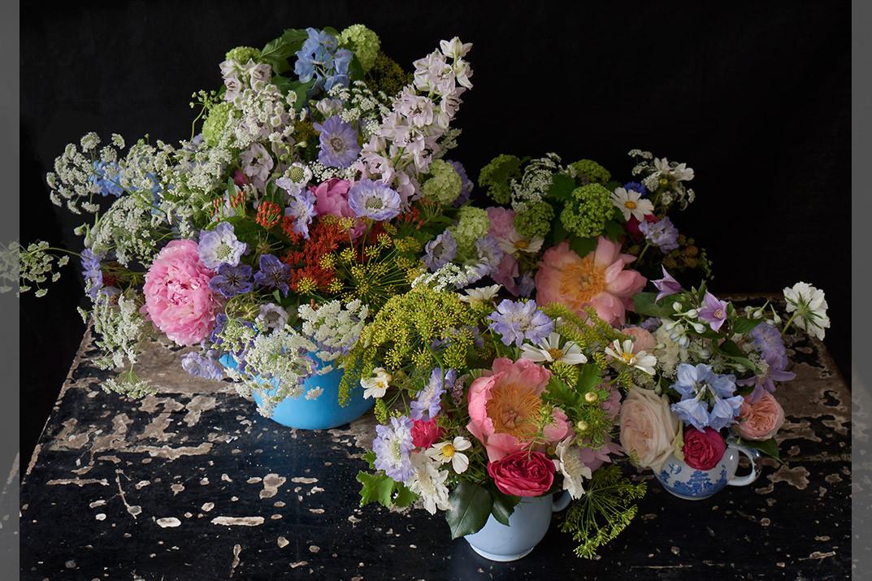 bridebook.co.uk multi colour meadowy flowers