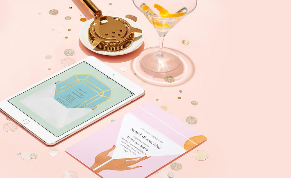 bridebook.co.uk wedding invitations by paperless post on ipad