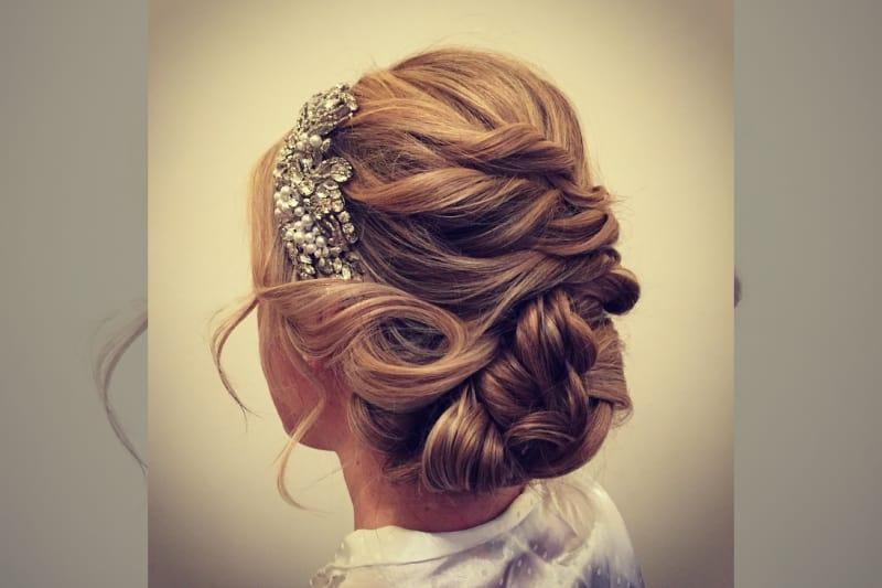 bridebook.co.uk- rose magnall up do with crystal hair piece