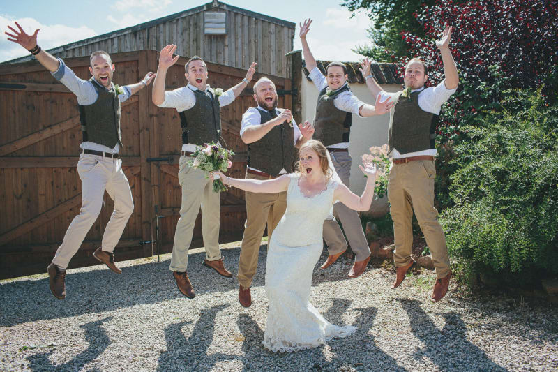 South West | Devon | Cullompton | Summer | DIY | Rustic |  | Pink |  | Barn | Real Wedding | Helen Lisk Photography #Bridebook #RealWedding #WeddingIdeas Bridebook.co.uk