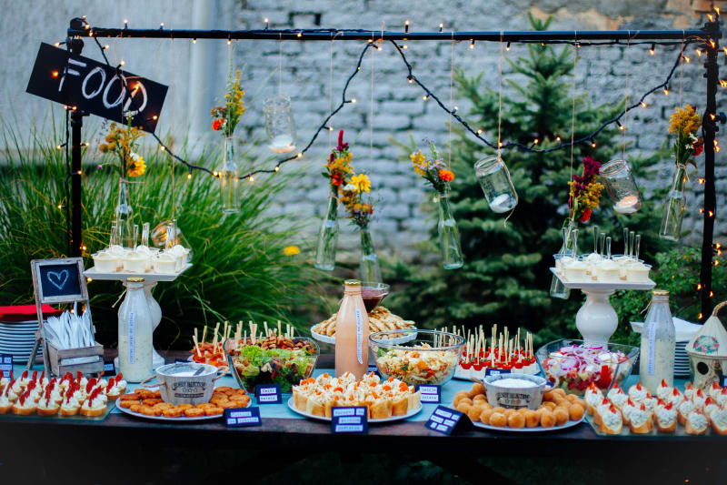 Bridebook.co.uk Colourful Food Bar Wedding Breakfast