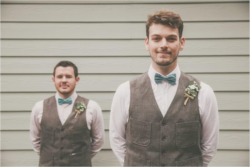 Bridebook.co.uk- groom and best man in matching waistcoats
