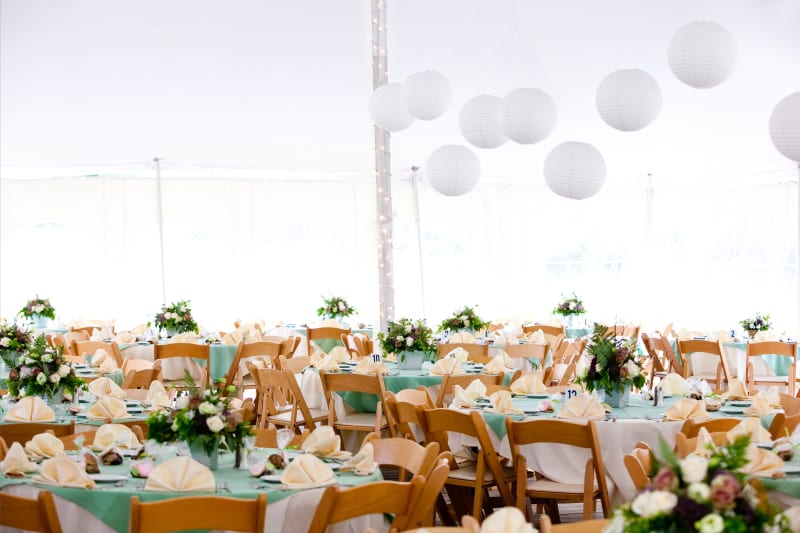 Bridebook.co.uk Bright Marquee Wedding with Paper Lanterns