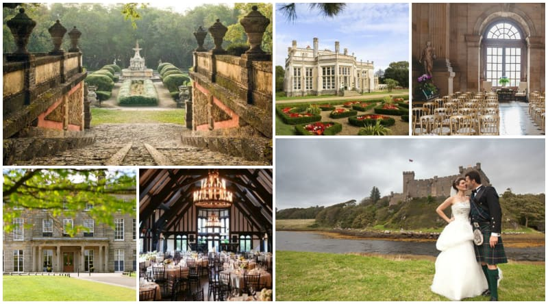 bridebook.co.uk collage of wedding venues