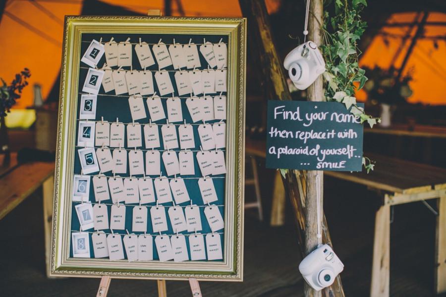 Bridebook.co.uk- polaroid photo seating plan