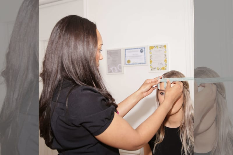 Bridebook.co.uk Sian Dellar measuring brows